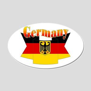 German COA ribbon 20x12 Oval Wall Decal