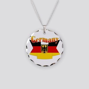 German COA ribbon Necklace Circle Charm