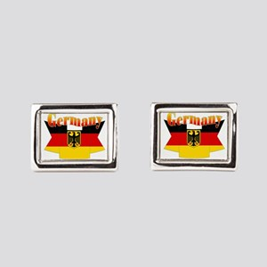 German COA ribbon Rectangular Cufflinks