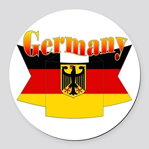 German COA ribbon Round Car Magnet