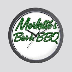 Merlottes Bar and BBQ Wall Clock