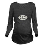 Marathon Runner 26.2 Long Sleeve Maternity T-Shirt