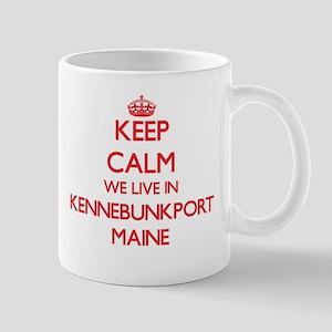 Keep calm we live in Kennebunkport Maine Mugs