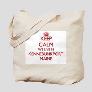 Keep calm we live in Kennebunkport Maine Tote Bag
