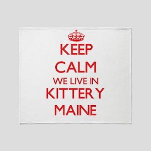 Keep calm we live in Kittery Maine Throw Blanket