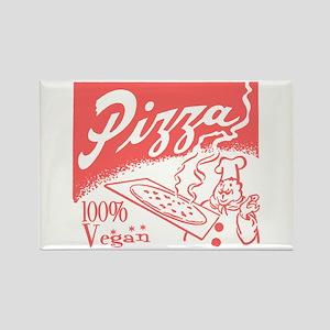 Vegan Pizza Rectangle Magnet