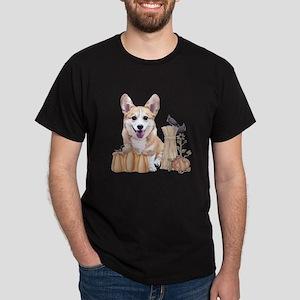Welsh Corgi Puppy with Pumpkins T-Shirt
