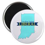 "2.25"" Magnet (10 pack) True Blue Indiana LIBERAL"