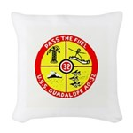 USS GUADALUPE Woven Throw Pillow
