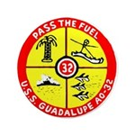 """USS GUADALUPE 3.5"""" Button"""