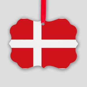 Denmark flag Picture Ornament