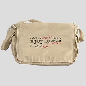 God has Perfect Timing Messenger Bag