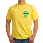 Yellow T-Shirt for a True Blue Indiana LIBERAL