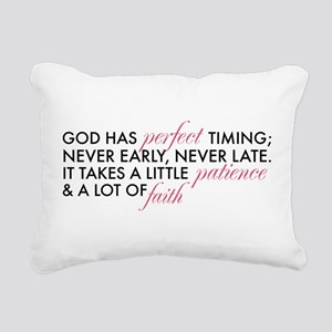 God has Perfect Timing Rectangular Canvas Pillow