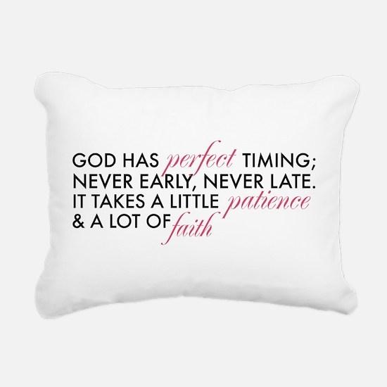 God has Perfect Timing Rectangular Canvas Pillow