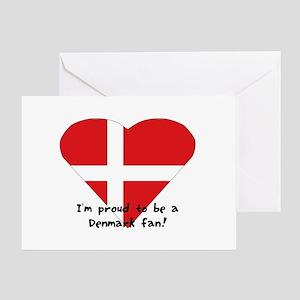 Denmark fan Greeting Card