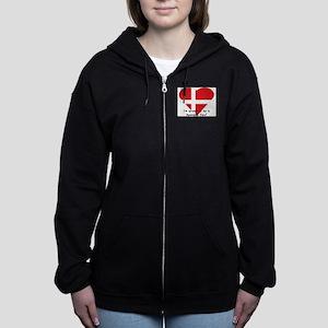 Denmark fan Women's Zip Hoodie