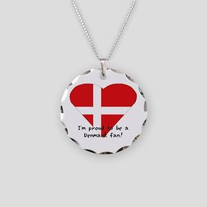 Denmark fan Necklace Circle Charm