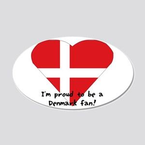 Denmark Fan 20x12 Oval Wall Decal