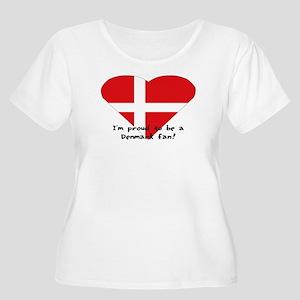 Denmark fan Women's Plus Size Scoop Neck T-Shirt