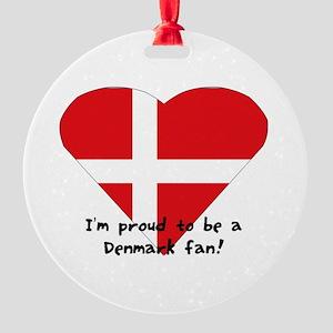 Denmark fan Round Ornament