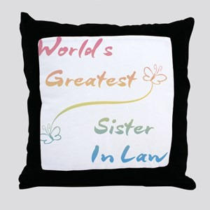 Sister In Law Throw Pillow