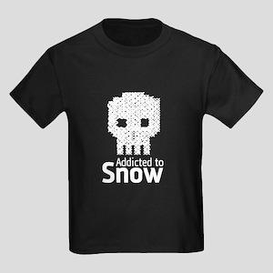 'Addicted to Snow' Kids Dark T-Shirt