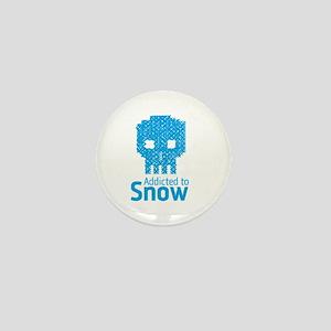 'Addicted to Snow' Mini Button