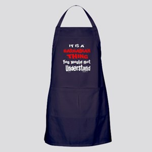 It Is Barbadian or Bajuns Thing Apron (dark)