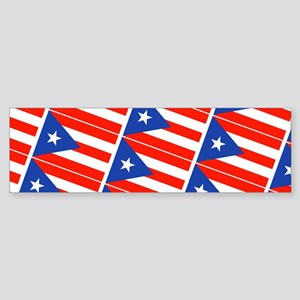 Puerto Rican Flags Banderas 22 for Bumper Sticker