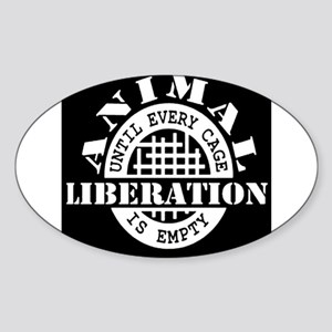Animal Liberation - Until Every Cage is Em Sticker