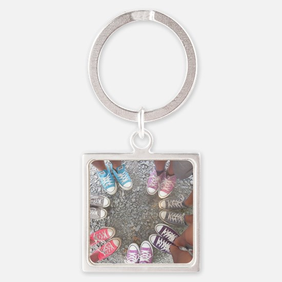 converse friends Square Keychain