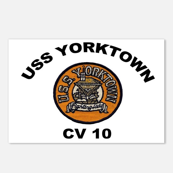USS Yorktown CVA 10 Postcards (Package of 8)