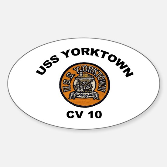USS Yorktown CVA 10 Oval Decal