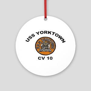 USS Yorktown CVA 10 Ornament (Round)
