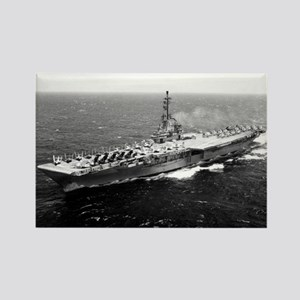 USS Yorktown Ship's Image Rectangle Magnet