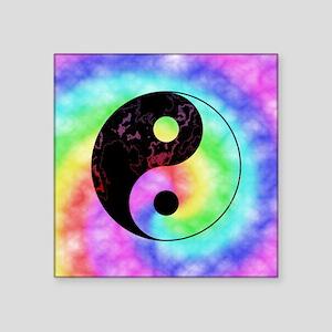 Rainbow Tie Dye Yin Yang Sticker