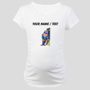 Custom Security Guard Maternity T-Shirt