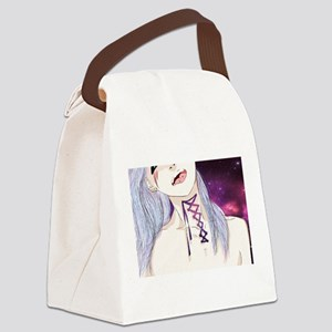 Laced Up Canvas Lunch Bag