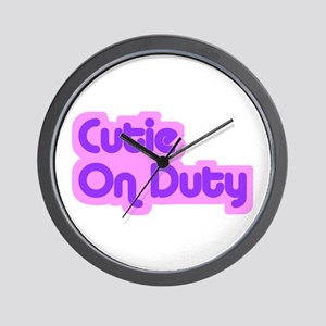 """Cutie on Duty"" Wall Clock"