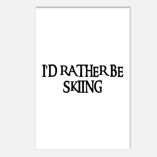 I'D RATHER BE SKIING Postcards (Package of 8)