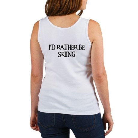 I'D RATHER BE SKIING Women's Tank Top