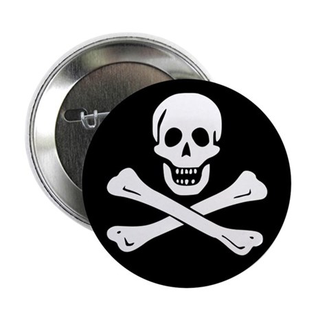 "Classic Skull and Crossbones 2.25"" Button (100 pac"