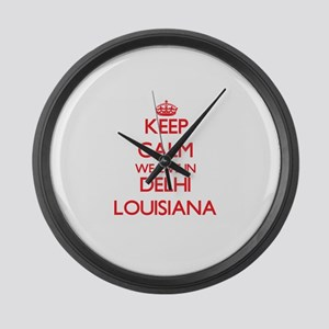 Keep calm we live in Delhi Louisi Large Wall Clock