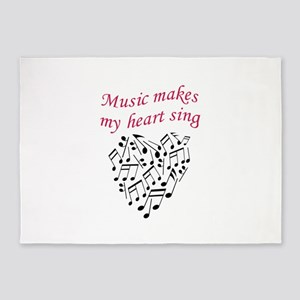 MUSIC MAKES HEART SING 5'x7'Area Rug