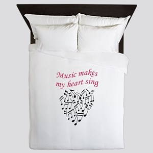 MUSIC MAKES HEART SING Queen Duvet