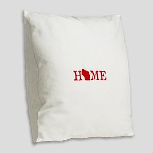 HOME - Wisconsin Burlap Throw Pillow