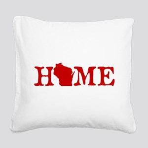 HOME - Wisconsin Square Canvas Pillow