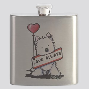 Love Always Westie Flask