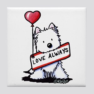 Love Always Westie Tile Coaster